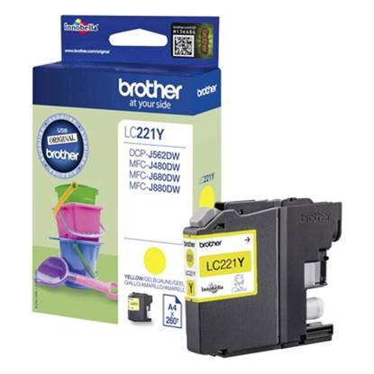 Brother Μελάνι Inkjet LC-221 Yellow (LC-221Y)