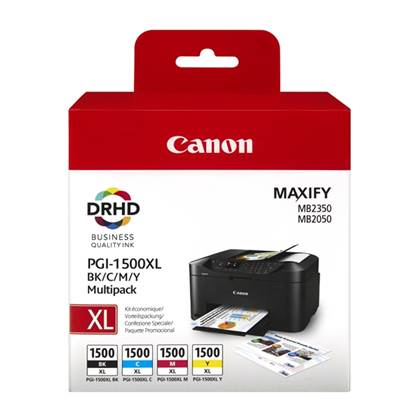 Canon Μελάνι Inkjet PGI-1500MPK XL (BK,C,M,Y) (9182B004)