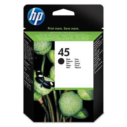 HP Μελάνι Inkjet No.45 Black (51645AE)