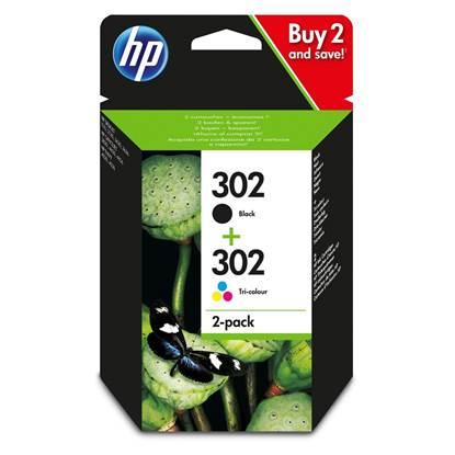 HP Μελάνι Inkjet No.302 Black & Colour 2-Pack (X4D37AE)