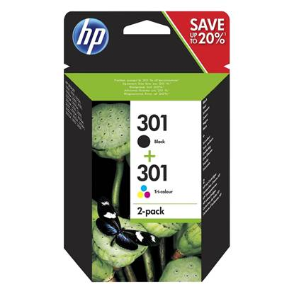 HP Μελάνι Inkjet No.301 Combo 2-Pack (N9J72AE)