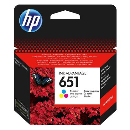 HP Μελάνι Inkjet No.651 Tri-colour (C2P11AE)