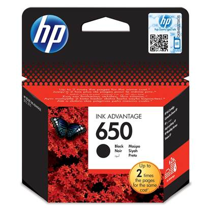 HP Μελάνι Inkjet No.650 Black (CZ101AE)