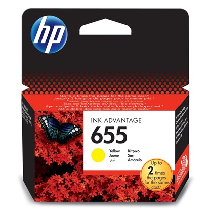 HP Μελάνι Inkjet No.655 Yellow (CZ112AE)