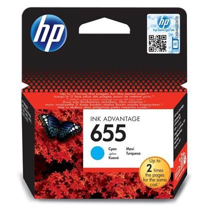 HP Μελάνι Inkjet No.655 Cyan (CZ110AE)