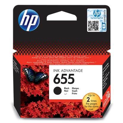 HP Μελάνι Inkjet No.655 Black (CZ109AE)