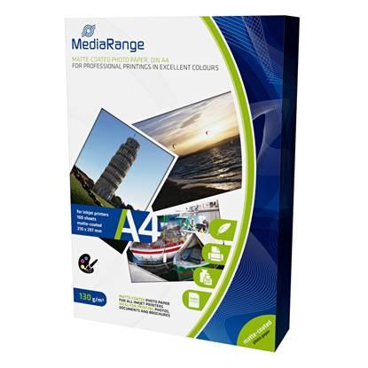 Φωτογραφικό Χαρτί MediaRange για Inkjet Εκτυπωτές A4 Matte 130g/m² 100 Φύλλα
