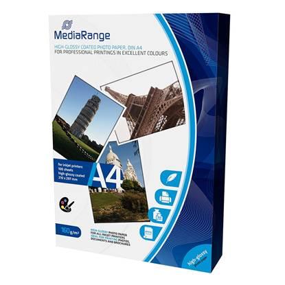 Φωτογραφικό Χαρτί MediaRange για Inkjet Εκτυπωτές Α4 High-Glossy 160g/m²  100 Φύλλα