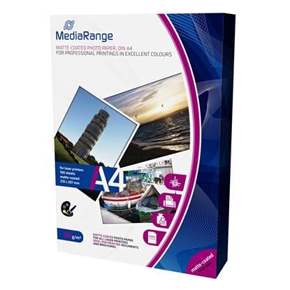 Φωτογραφικό Χαρτί MediaRange για Laser Εκτυπωτές Α4 Matte 120g/m²  100 Φύλλα