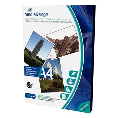 Φωτογραφικό Χαρτί MediaRange για Inkjet Εκτυπωτές Α4 Dual-side High-Glossy 160g/m²  50 Φύλλα