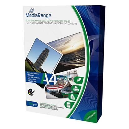 Φωτογραφικό Χαρτί MediaRange για Inkjet Εκτυπωτές A4 Dual-side Matte 140g/m²  100 Φύλλα