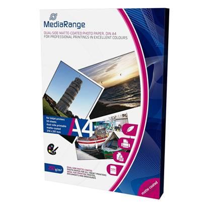 Φωτογραφικό Χαρτί MediaRange για Inkjet Εκτυπωτές A4 Dual-side Matte 250g/m²  50 Φύλλα