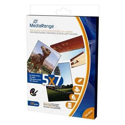 Φωτογραφικές Κάρτες MediaRange για Inkjet Εκτυπωτές High-Glossy 220g/m²  50 Φύλλα