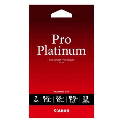 Φωτογραφικό Χαρτί Pro Platinum CANON A6 Glossy 300g/m² 20 Φύλλα (2768B013)