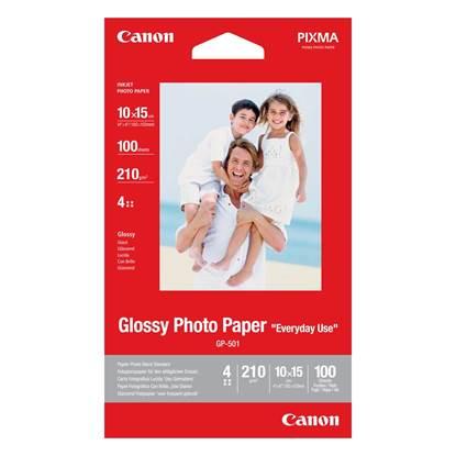 Φωτογραφικό Χαρτί CANON A6 Glossy 210g/m² 100 Φύλλα (0775B003)