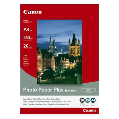 Φωτογραφικό Χαρτί CANON A4 Semi Gloss 260g/m² 20 Φύλλα (1686B021)