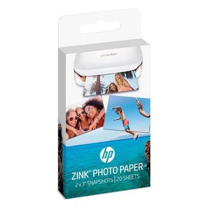 Αφαιρούμενο Αυτοκόλλητο Φωτογραφικό Χαρτί HEWLETT PACKARD (20 Φύλλα) 5x7.6 cm. (W4Z13A)