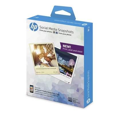 Αφαιρούμενο Αυτοκόλλητο Φωτογραφικό Χαρτί HEWLETT PACKARD (25 Φύλλα) 10x13 cm. (W2G60A)