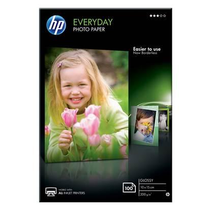 Φωτογραφικό Χαρτί HEWLETT PACKARD 10 x 15 cm Everyday Glossy 200gr. 100 Φύλλα (CR757A)
