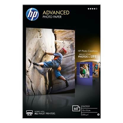 Φωτογραφικό Χαρτί HEWLETT PACKARD A6 Glossy 250g/m² 60 Φύλλα (Q8008A)