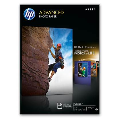 Φωτογραφικό Χαρτί HEWLETT PACKARD 13 x 18 cm Glossy 250g/m² 25 Φύλλα (Q8696A)