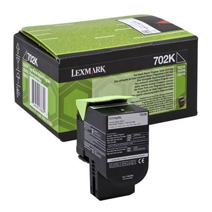 LEXMARK CS310/410/510 BLK TONER CRTR SC (702K) RETURN 1k (70C20K0)