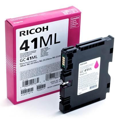 RICOH GC 41ML GEL INK MAGENTA 600p (GC-41ML)  (405767)