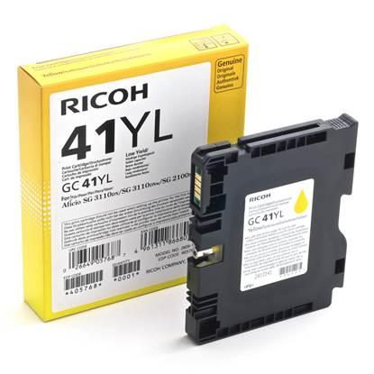 RICOH GC 41YL GEL INK YELLOW 600p (GC-41YL)  (405768)