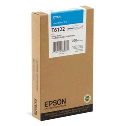 Epson Μελάνι Inkjet T6122 Cyan (C13T612200)