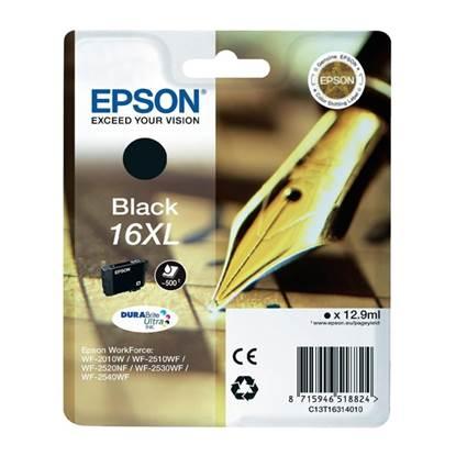 Epson Μελάνι Inkjet No.16 XL Black (C13T16314012)