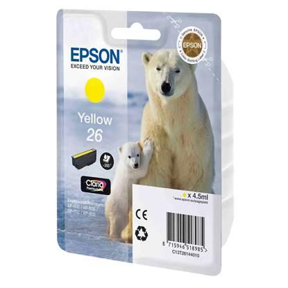 Epson Μελάνι Inkjet No.26 Yellow (C13T26144012)