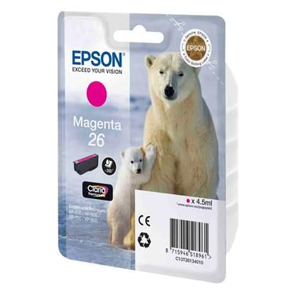 Epson Μελάνι Inkjet No.26 Magenta (C13T26134012)