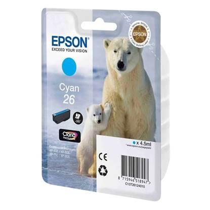 Epson Μελάνι Inkjet No.26 Cyan (C13T26124012)