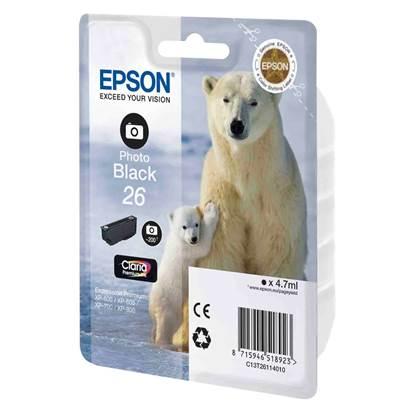 Epson Μελάνι Inkjet No.26 Photo Black (C13T26114012)