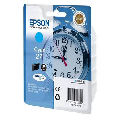 Epson Μελάνι Inkjet Series 27 Cyan (C13T27024012)