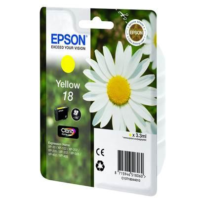 Epson Μελάνι Inkjet No.18 Yellow (C13T18044012)
