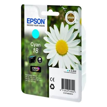 Epson Μελάνι Inkjet No.18 Cyan (C13T18024012)