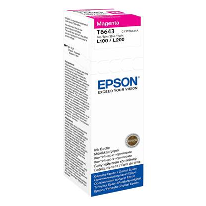 Epson Μελάνι Inkjet Bottle Magenta (C13T66434A)