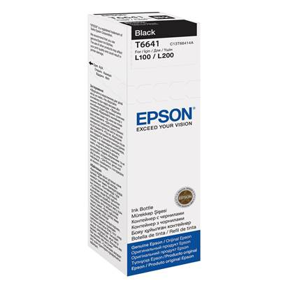 Epson Μελάνι Inkjet Bottle Black (C13T66414A)