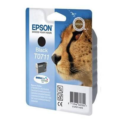 Epson Μελάνι Inkjet T0711 Black (C13T07114012)