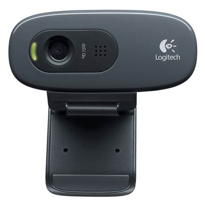 Logitech C270 Webcam (Black, HD)