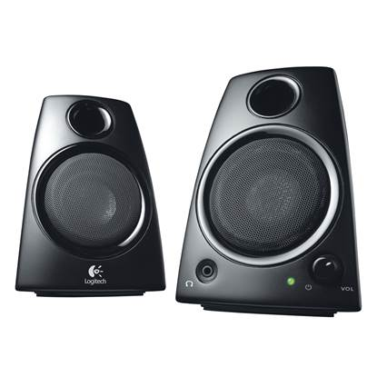 Logitech Z130 2.0 Stereo Speakers (Black)
