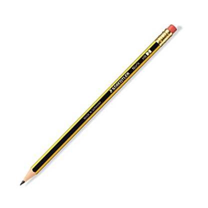 Μολύβι Ξύλινο Με Γόμα STAEDTLER Noris 122 HB (Μαύρο)