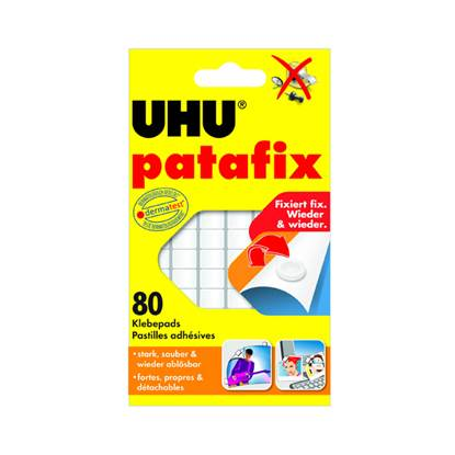 Patafix Glue Pads UHU Λευκό (80) (42620-5)