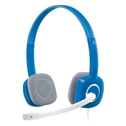 Logitech H150 Headset (Blueberry, Wired)