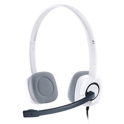 Logitech H150 Headset (Coconut, Wired)
