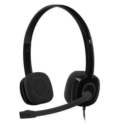 Logitech H151 Headset (Black, Wired)