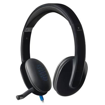 Logitech H540 Headset (Black, Wired)