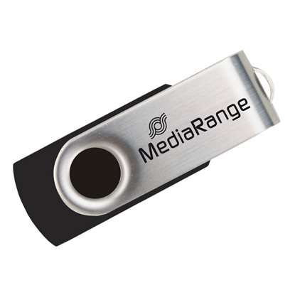 MediaRange USB 2.0 Flash Drive 8GB (Black/Silver)