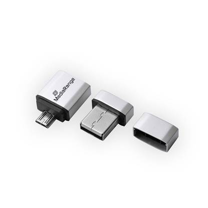 MediaRange USB 2.0 Nano Flash Drive 16GB + micro USB Adaptor (OTG)